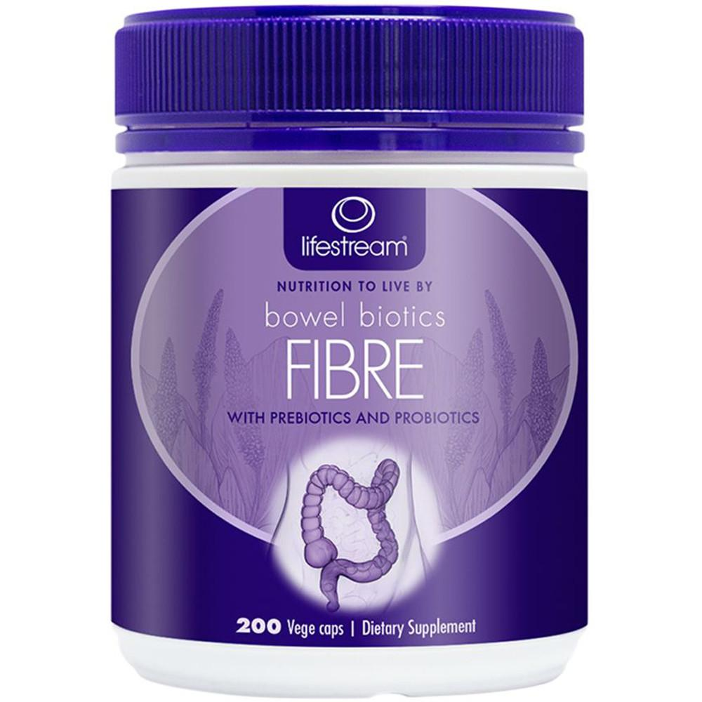 LifeStream Bowel Biotics Fibre with Prebiotics & Probiotics 200vc