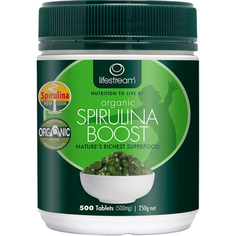 Lifestream Spirulina Organic Boost 500mg 500t