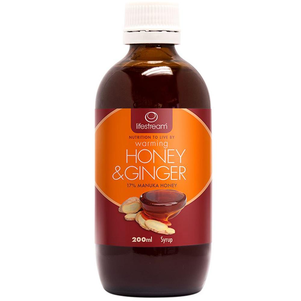 LifeStream Warming Honey & Ginger Syrup 200ml
