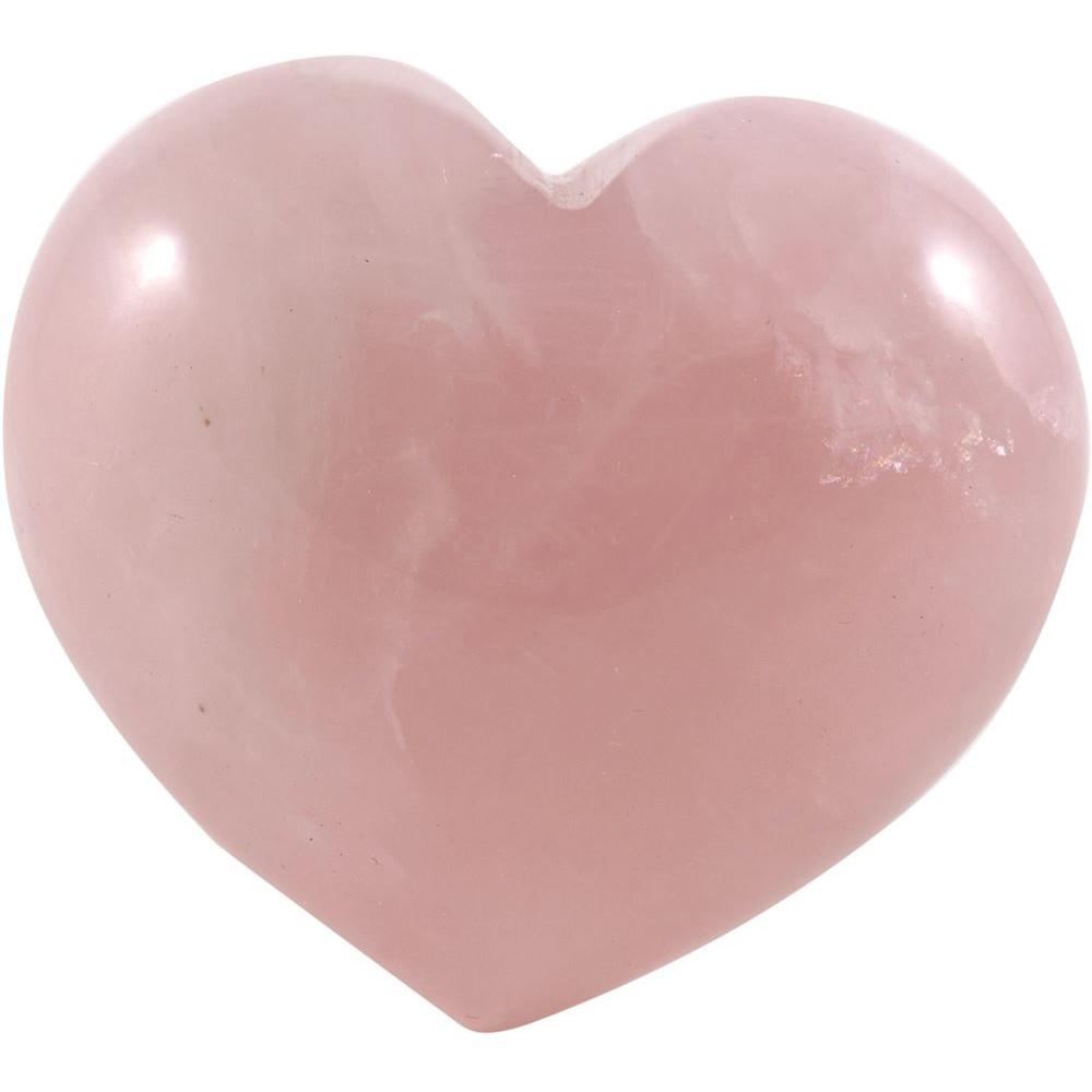 LinenCo Rose Quartz Heart