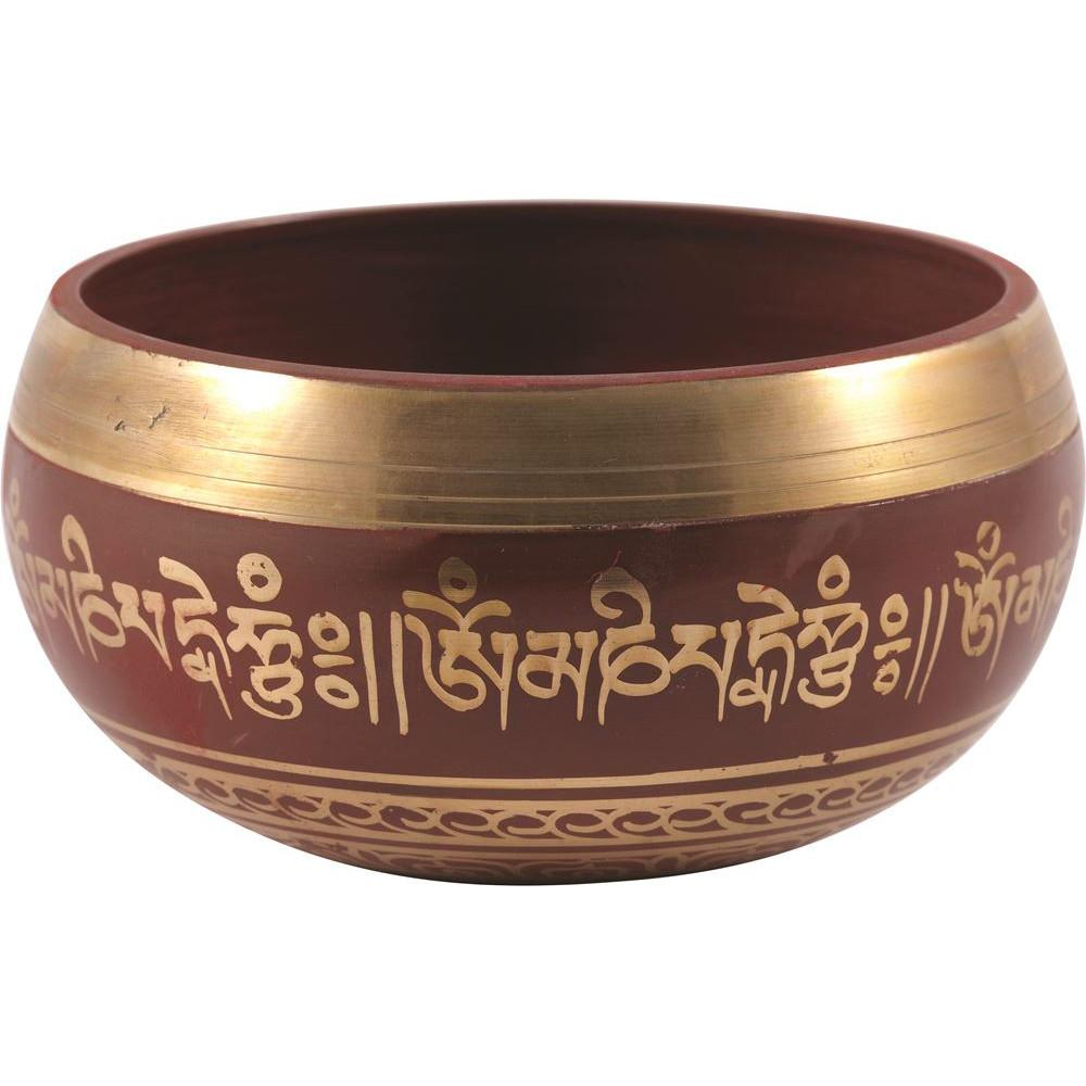 LinenCo Tibetan Singing Bowl Red Medium (12cm)
