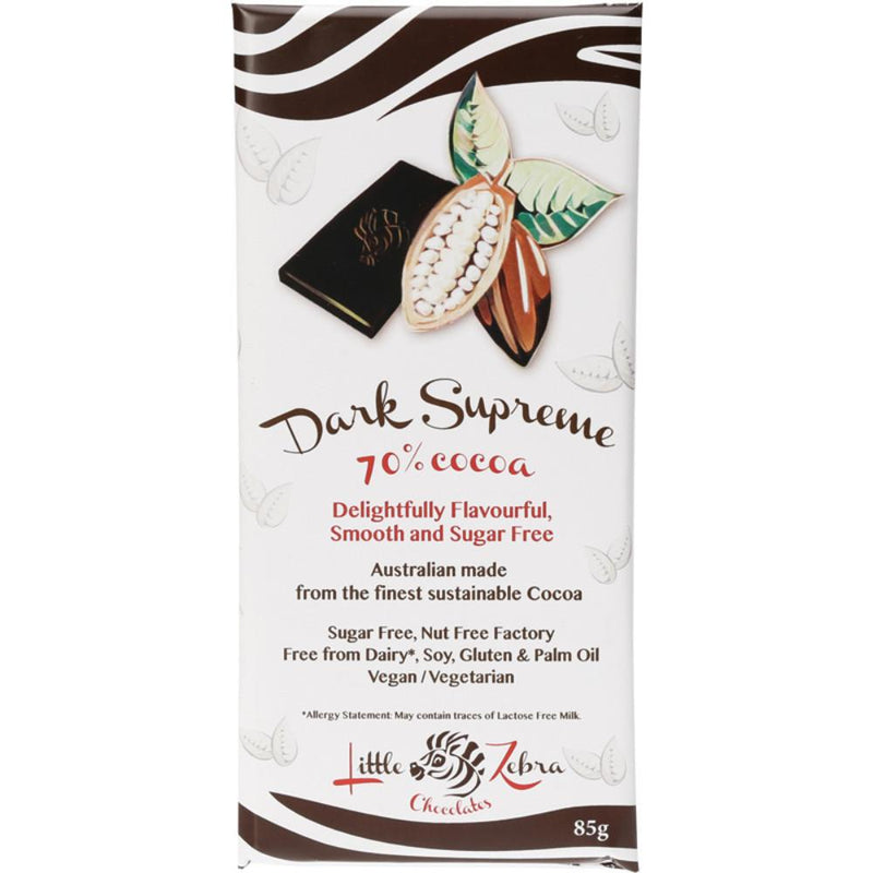 Little Zebra Chocolate Dark Supreme 85g 70% Cocoa