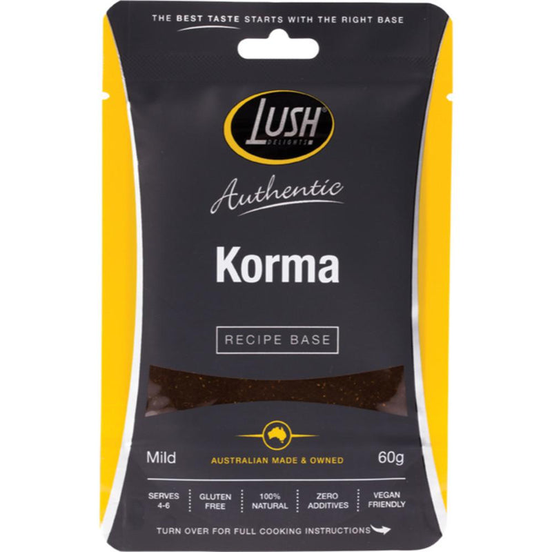 Lush Delights Authentic Recipe Base 60g Korma - Mild