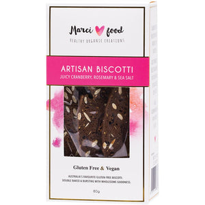 Marci Food Artisan Biscotti Cranberry, Rosemary & Sea Salt 80g