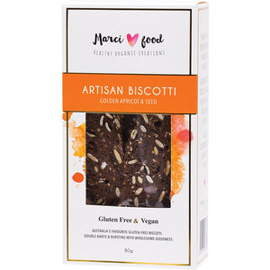 Marci Food Artisan Biscotti Golden Apricot & Seed 80g