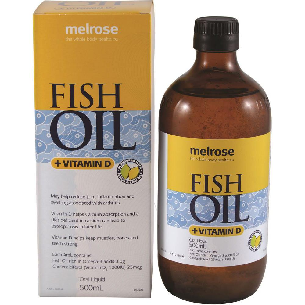 Melrose Fish Oil + Vitamin D 500ml