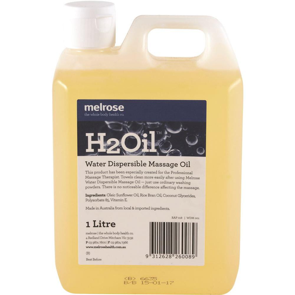 Melrose H2Oil Water Dispersible Massage 1L