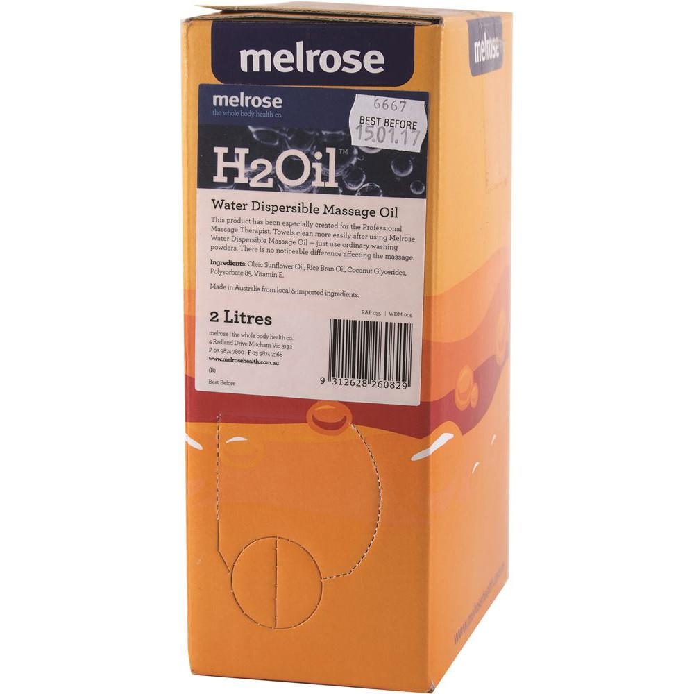 Melrose H2Oil Water Dispersible Massage 2L