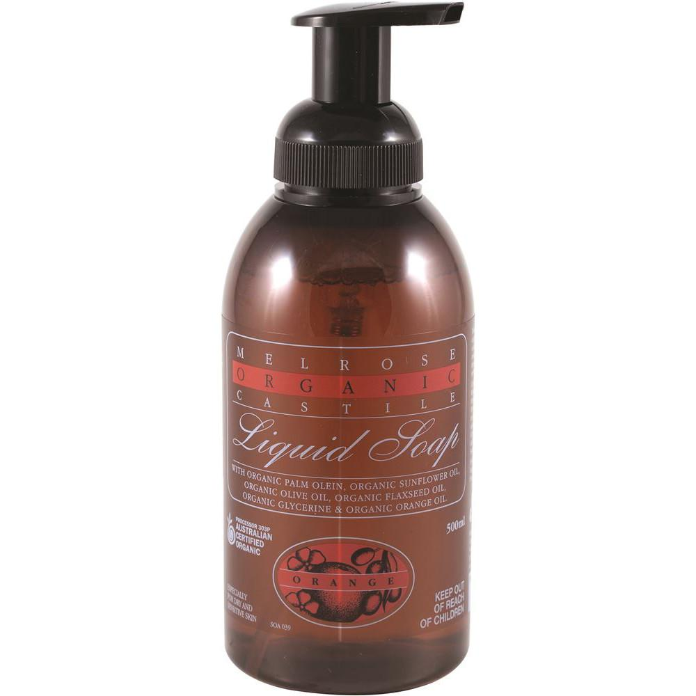 Melrose Organic Castile Soap Orange Pump 500ml
