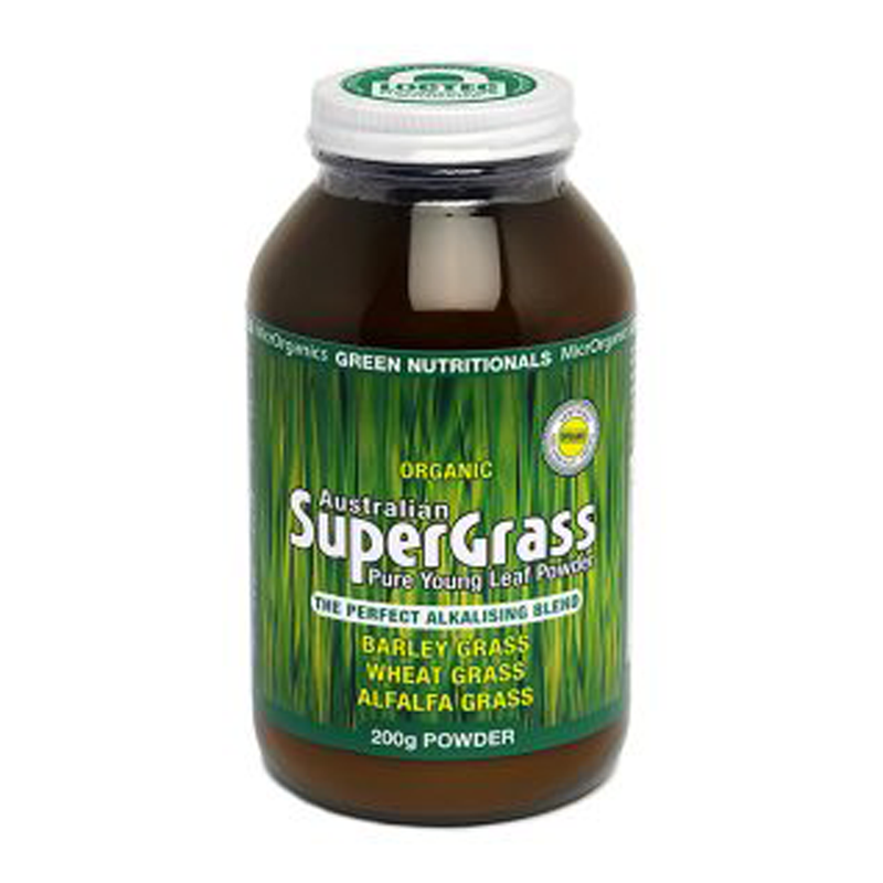 MicrOrganics Green Nutritionals Australian SuperGrass Powder 200g