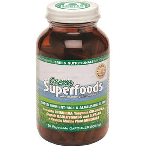MicrOrganics Green Nutritionals Green Superfoods 600mg 120vc