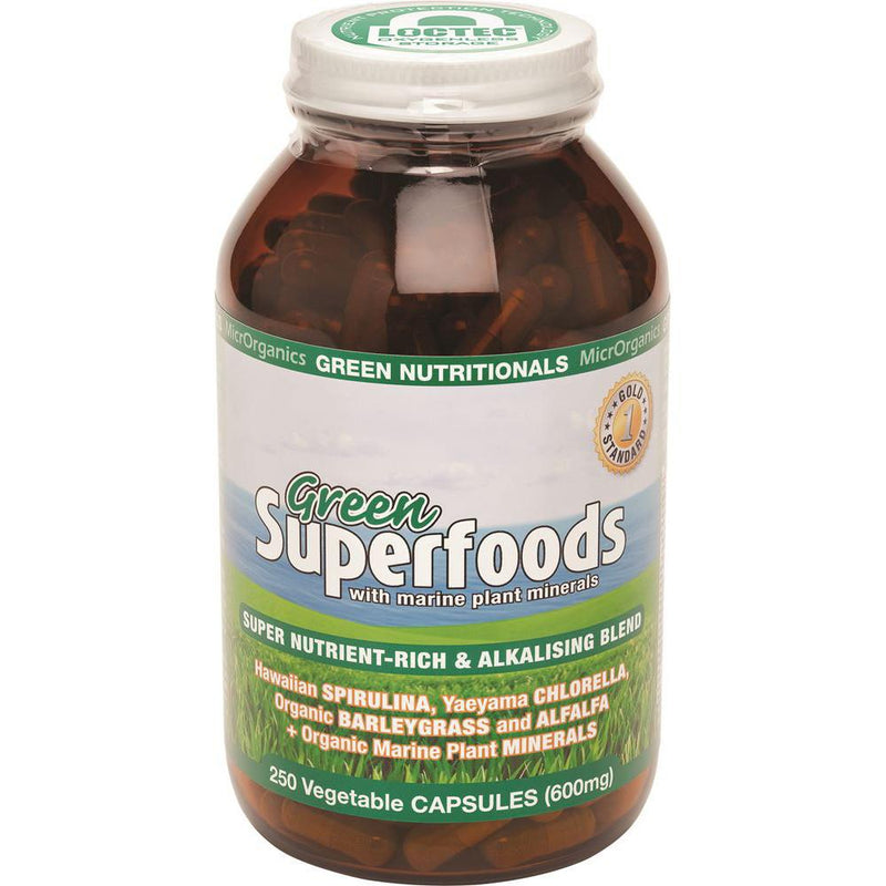 MicrOrganics Green Nutritionals Green Superfoods 600mg 250vc