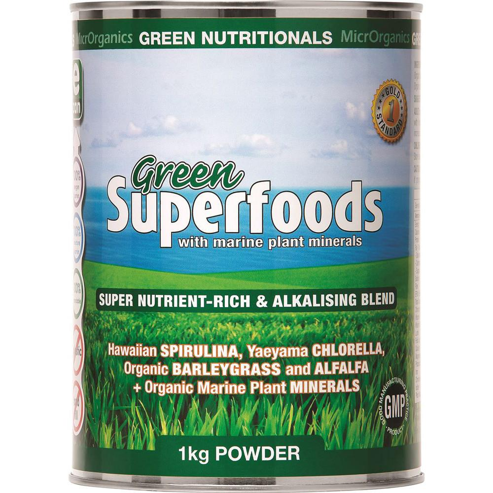 MicrOrganics Green Nutritionals Green Superfoods Powder 1kg