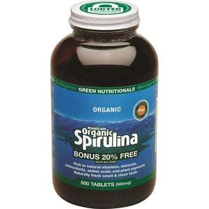 MicrOrganics Green Nutritionals Mountain Organic Spirulina 500mg 500t