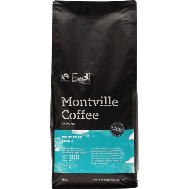 Montville Coffee Coffee Ground (Espresso) 1kg Woodford Blend