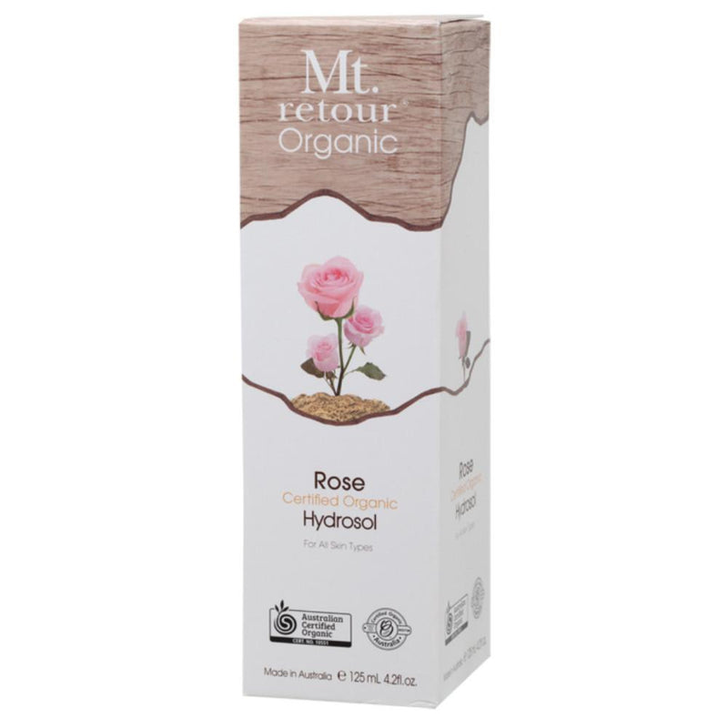 Mt Retour Face and Body Mist 125ml Hydrosol Freshener Spray - Rose