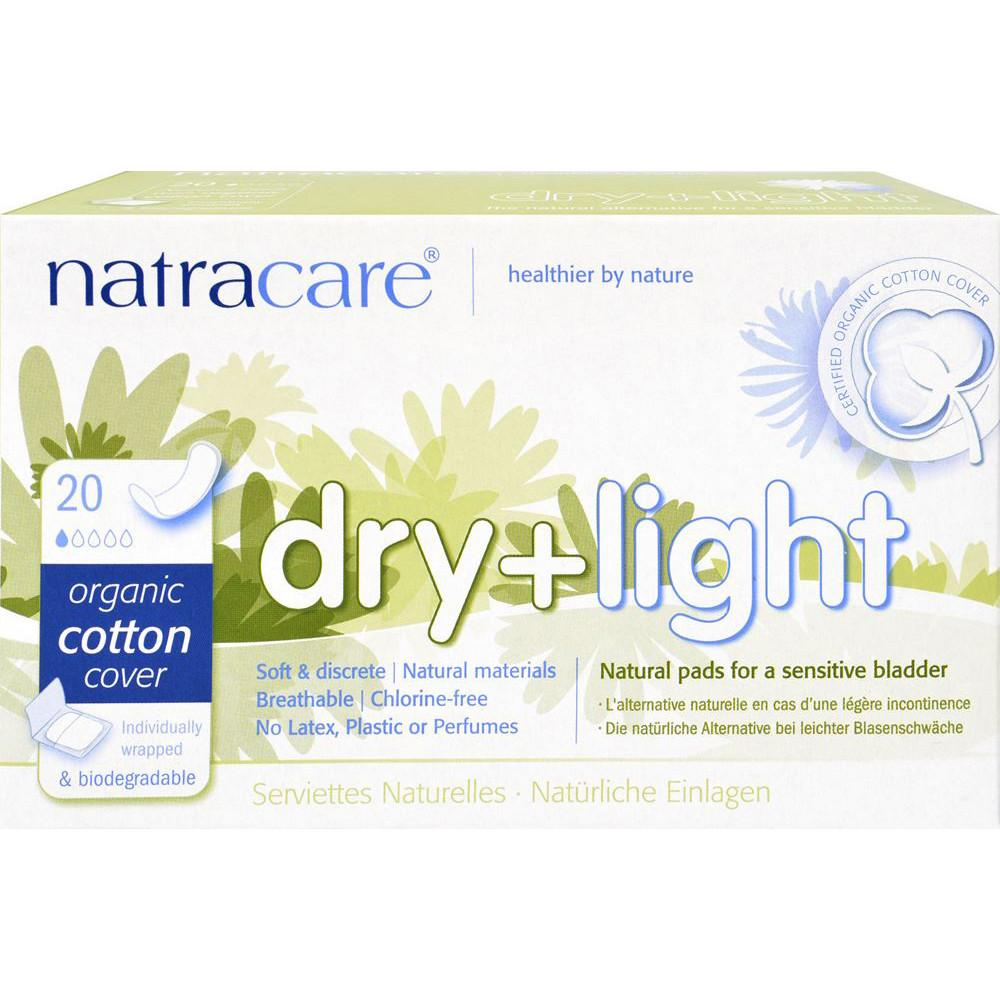 Natracare Dry & Light Incontinence Pads Sensitive Bladder x 20 Pack