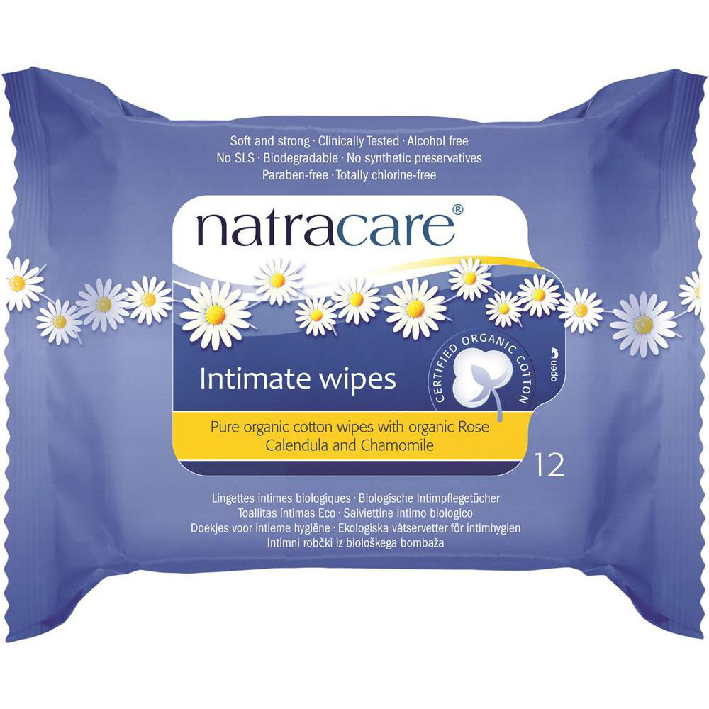 Natracare Organic Cotton Intimate Wipes x 12 Pack