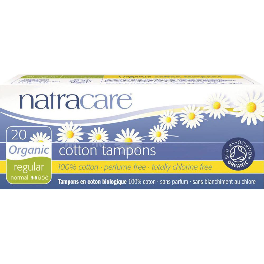 Natracare Organic Cotton Tampons Regular x 20 Pack