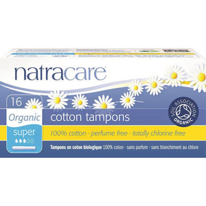 Natracare Organic Cotton Tampons Super with Applicator x16 Pack