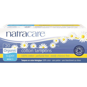 Natracare Organic Cotton Tampons Super x 20 Pack