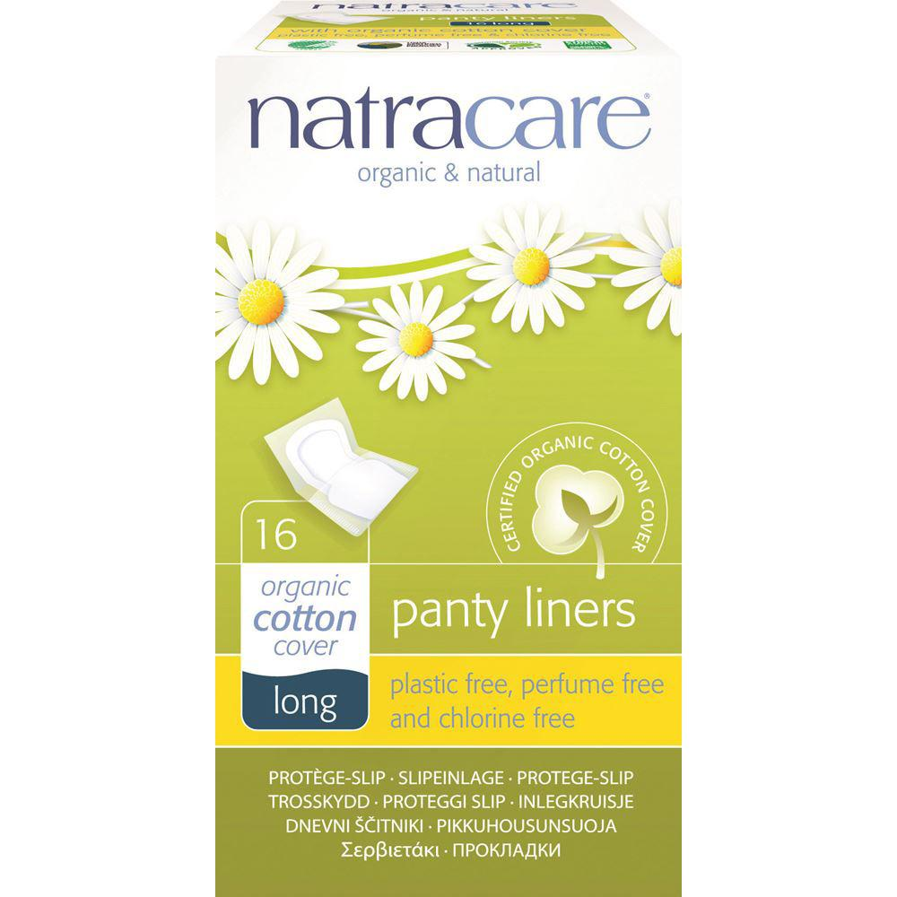 Natracare Panty Liners Long with Organic Cotton Cover x 16 Pack