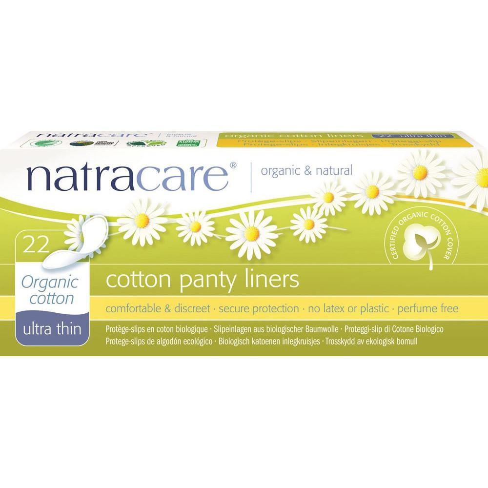 Natracare Panty Liners Ultra Thin with Organic Cotton Cover x 22 Pack