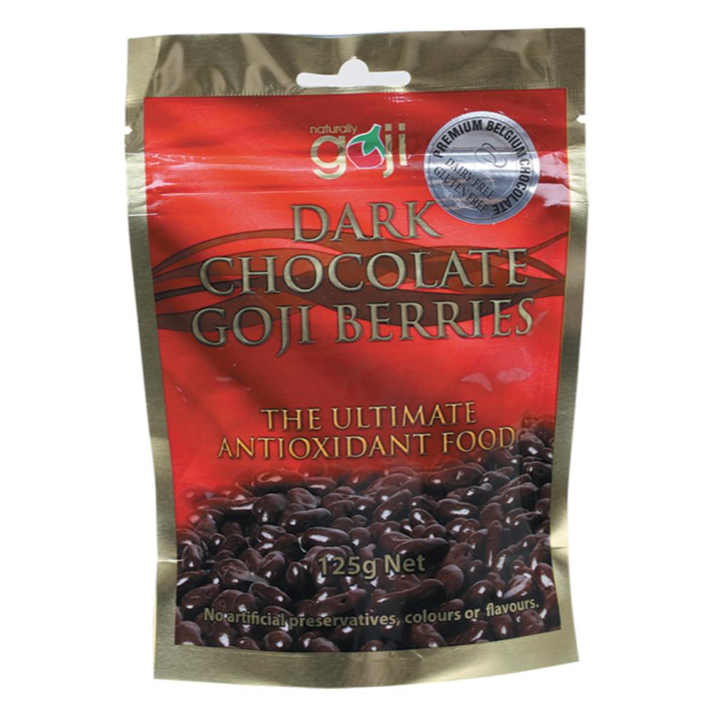Naturally Goji Chocolate Goji Berries 125g Dark Chocolate