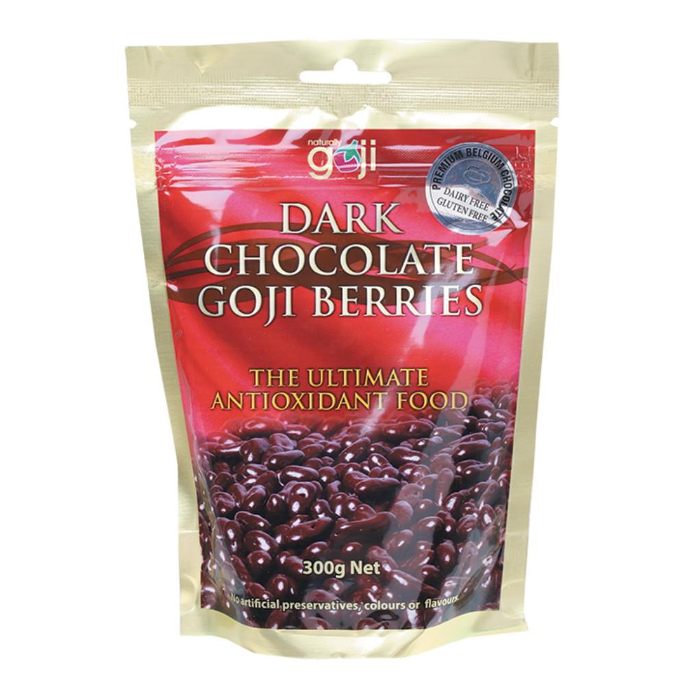 Naturally Goji Chocolate Goji Berries 300g Dark Chocolate