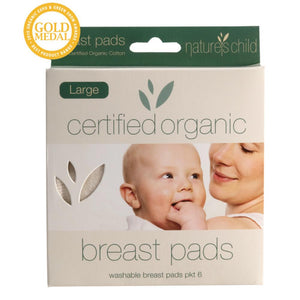 Nature's Child Cotton Breast Pads 6 Large