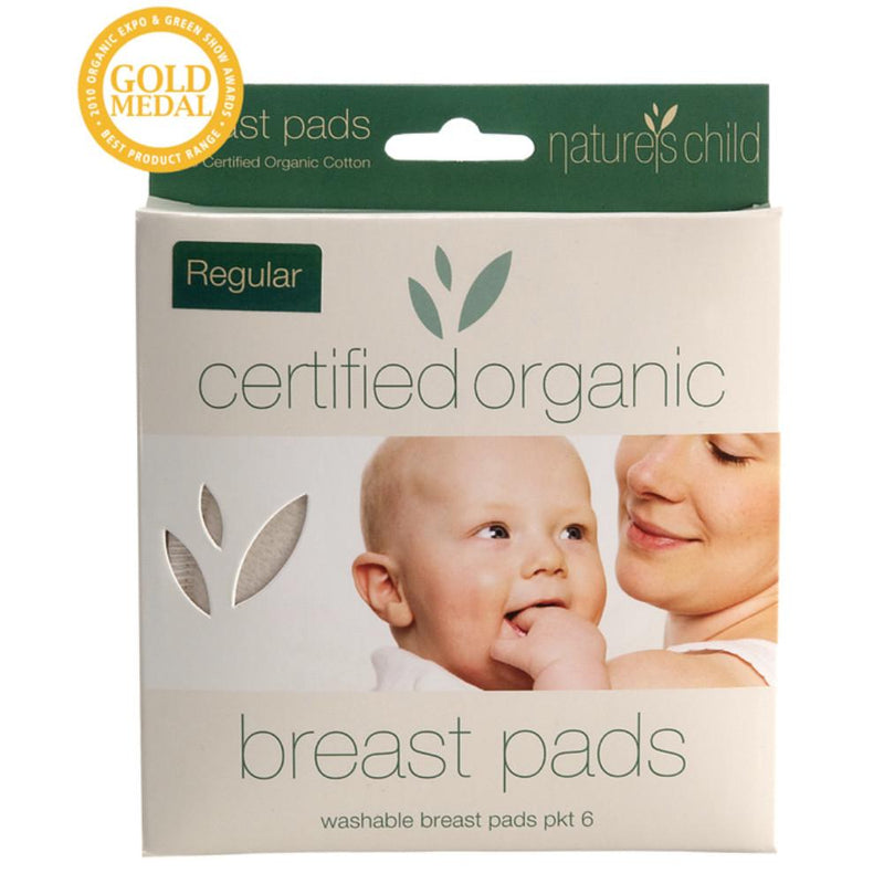 Nature's Child Cotton Breast Pads 6 Regular