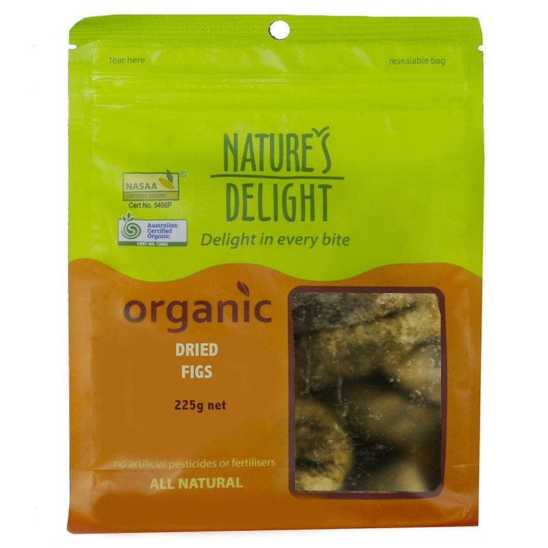 Nature's Delight Organic Dried Figs 225g