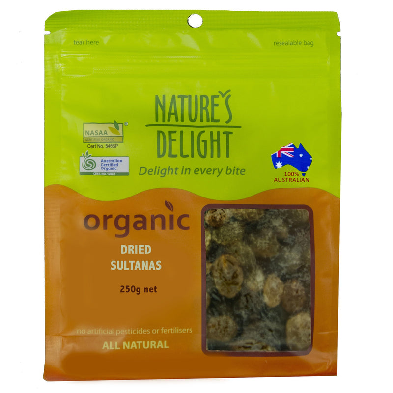 Nature's Delight Organic Dried Sultanas 250g