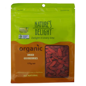 Nature's Delight Organic Goji Berries 175g