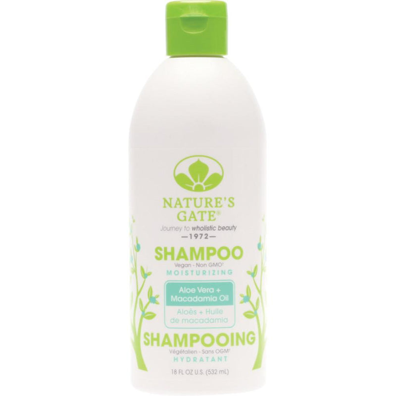 Nature's Gate Shampoo Moisturising 532ml Aloe Vera + Macadamia Oil