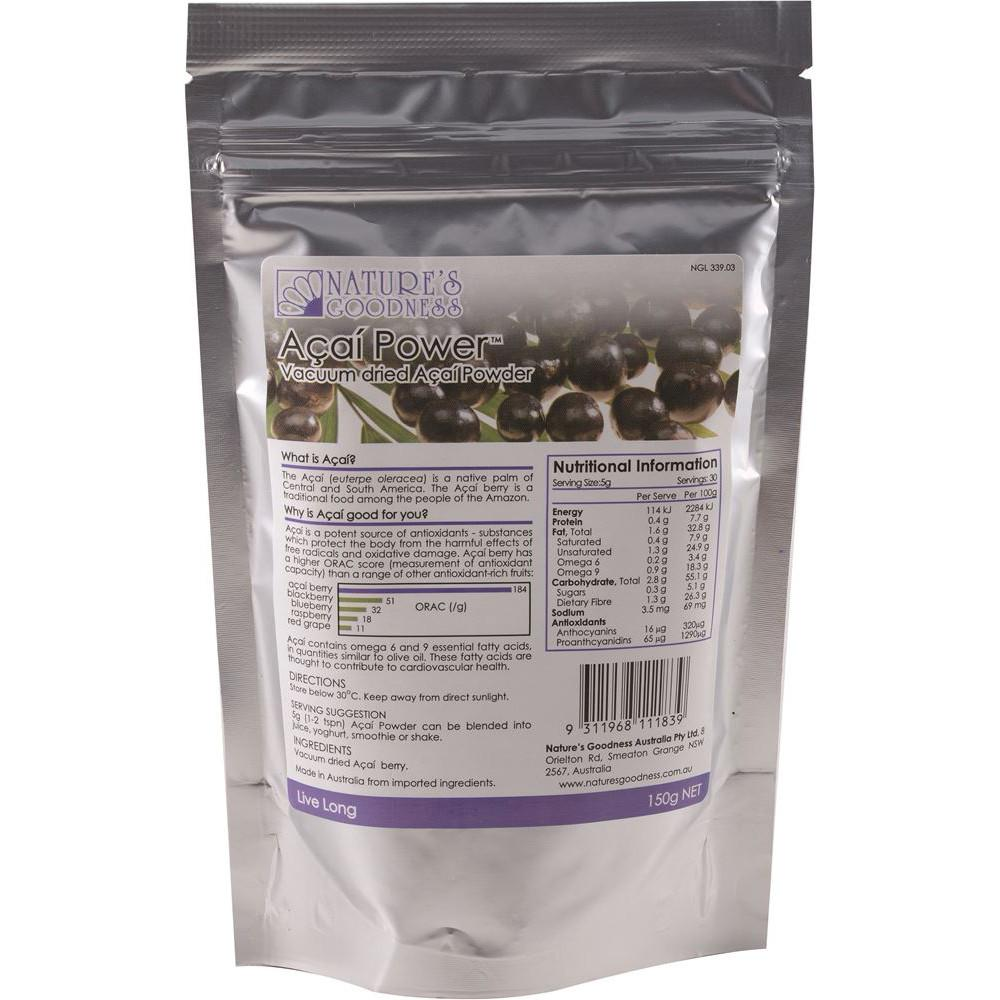 Nature's Goodness Acai Power Vacuum Dried 150g