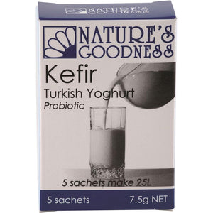 Nature's Goodness Kefir Turkish Yoghurt Probiotic 5 Sachets (7.5g net)