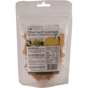 Nature's Goodness Olive Leaf Lozenges Vitamin C Manuka Lemon 200g