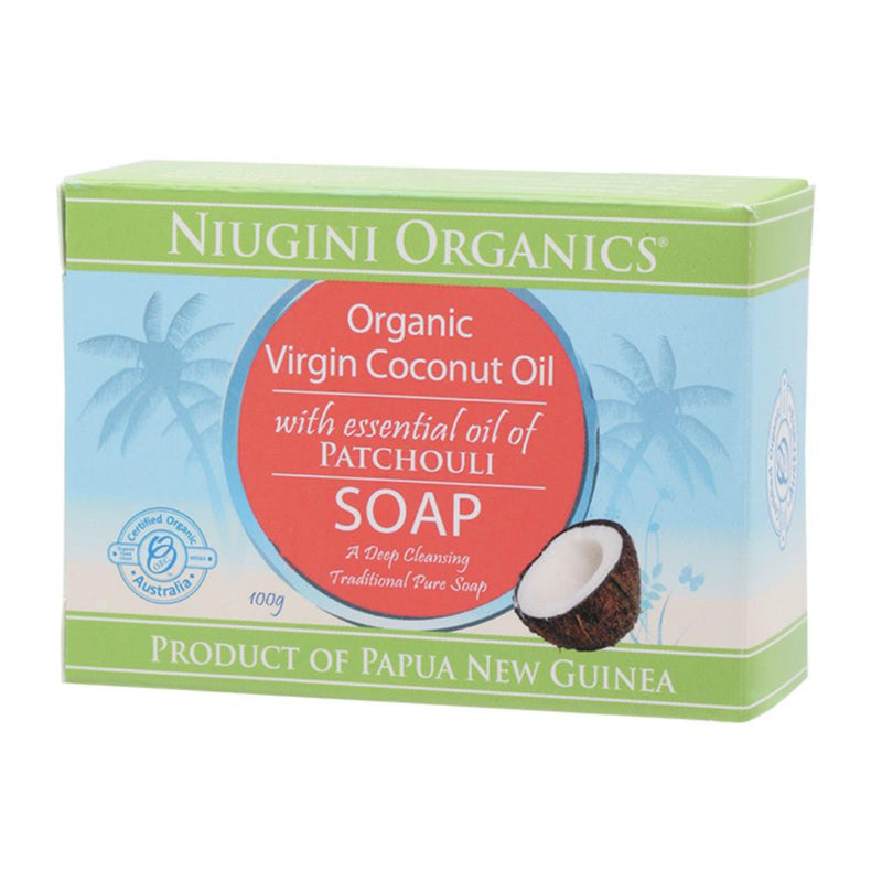 Niugini Organics Soap 100g Coconut Oil - Patchouli