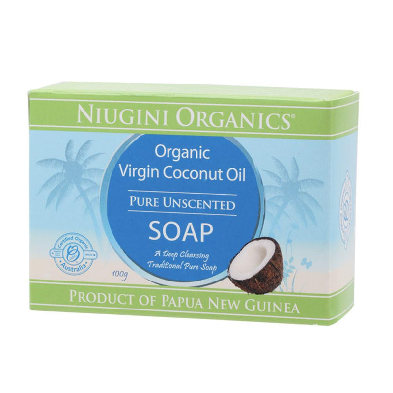 Niugini Organics Soap 100g Coconut Oil - Pure (Unscented)