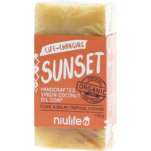 Niulife Coconut Oil Soap 100g Sunset - Turmeric