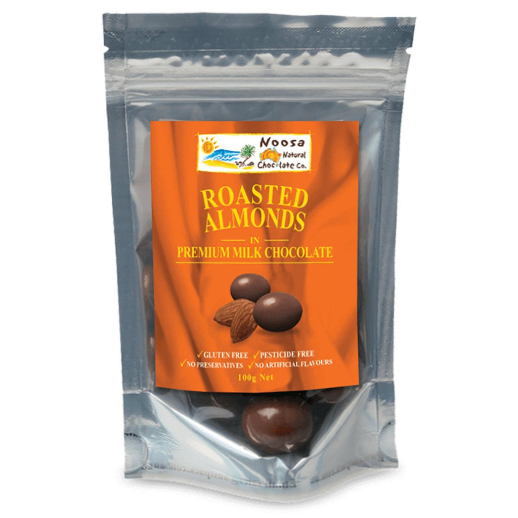 Noosa Natural Almonds Roasted Milk Chocolate 100g