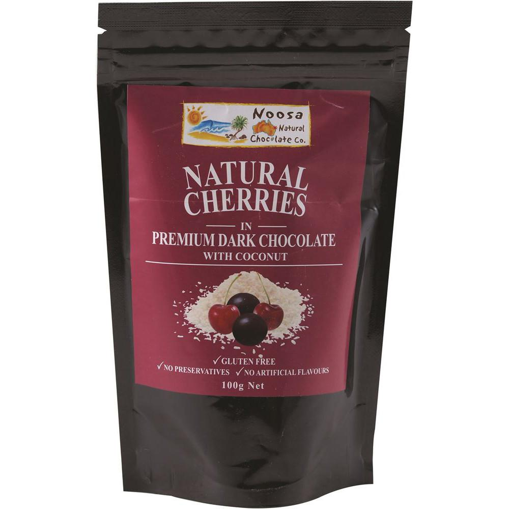 Noosa Natural Cherries Dark Chocolate & Coconut 100g
