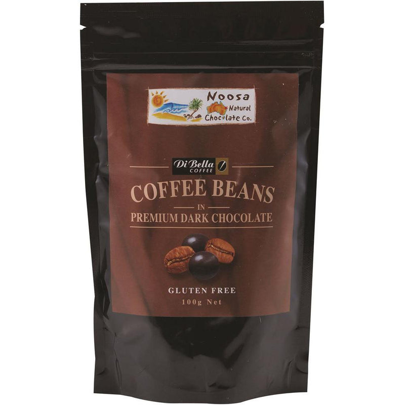 Noosa Natural Coffee Beans Dark Chocolate 100g