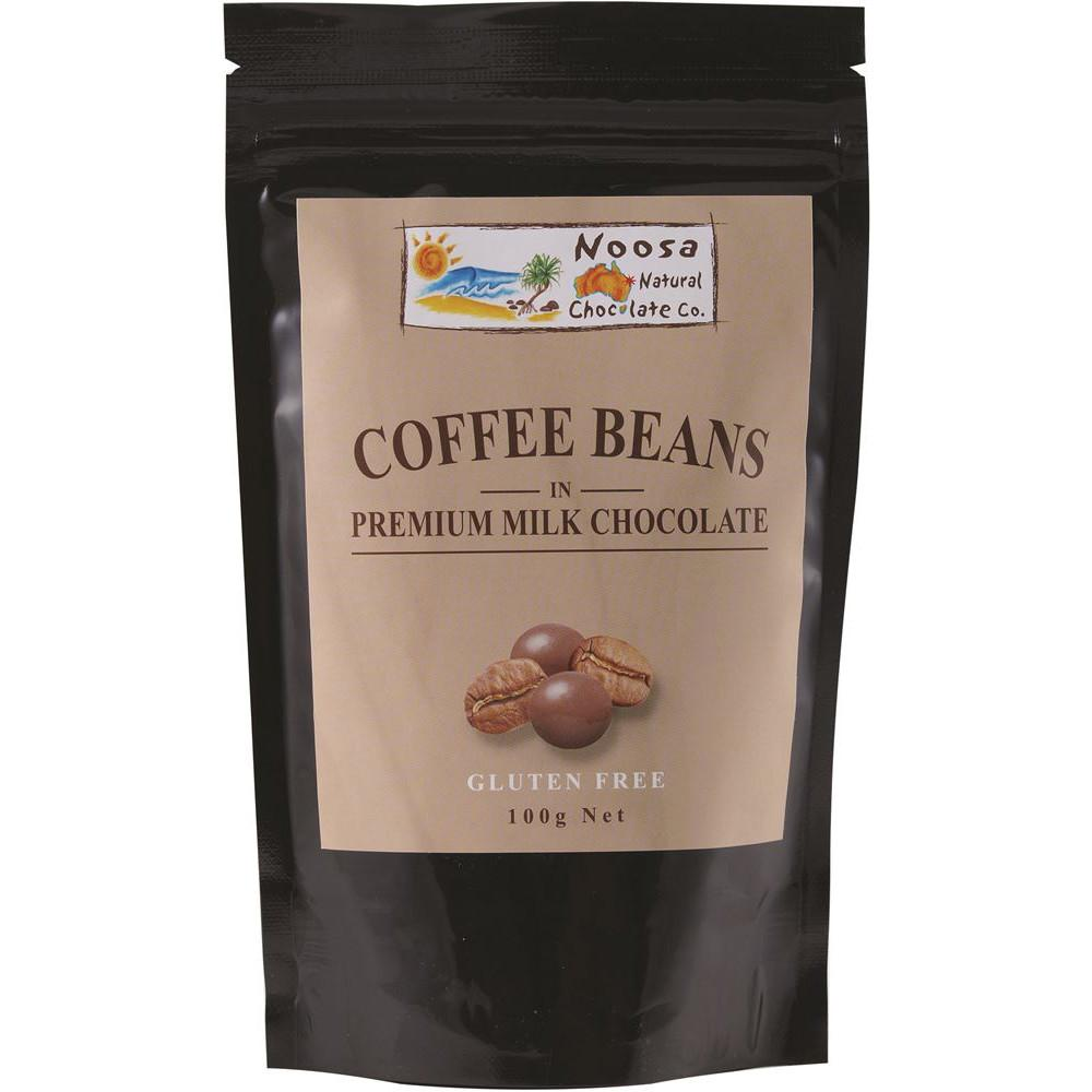 Noosa Natural Coffee Beans Milk Chocolate 100g