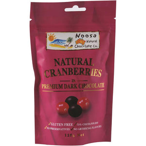 Noosa Natural Cranberries Dark Chocolate 125g