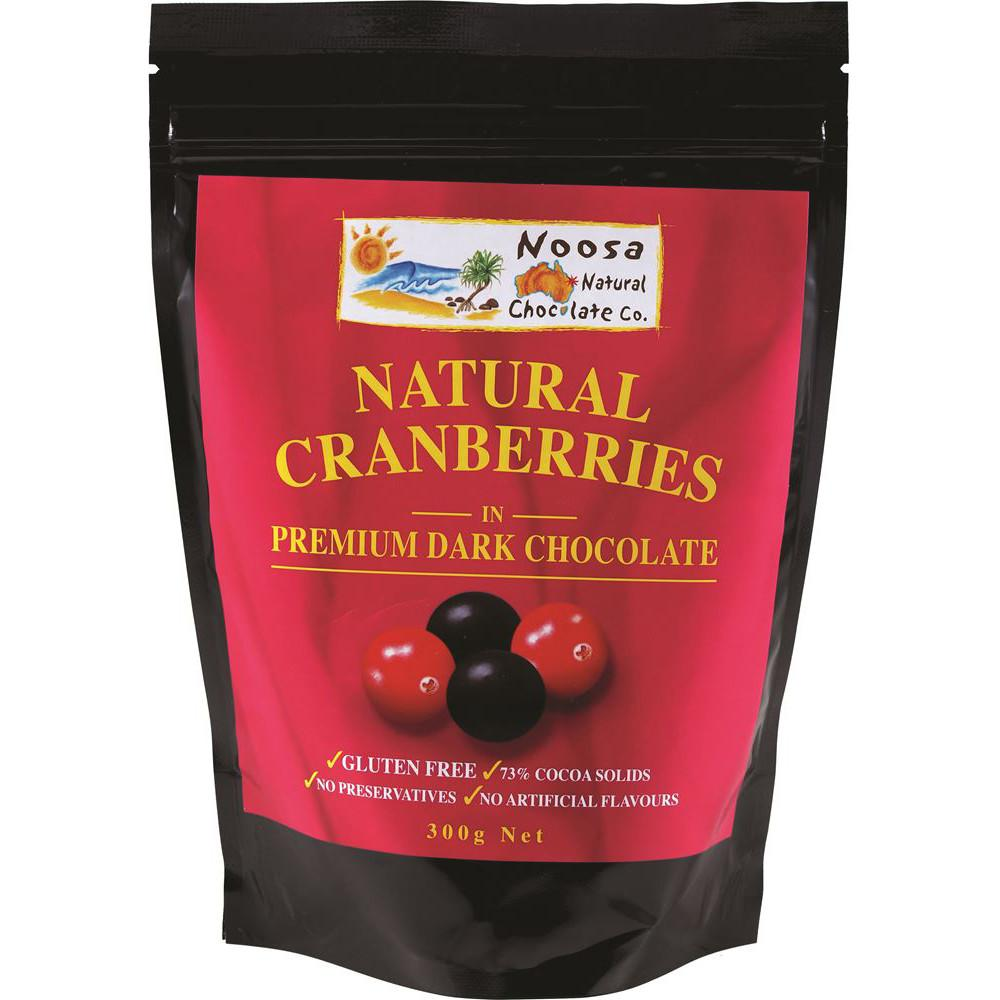 Noosa Natural Cranberries Dark Chocolate 300g