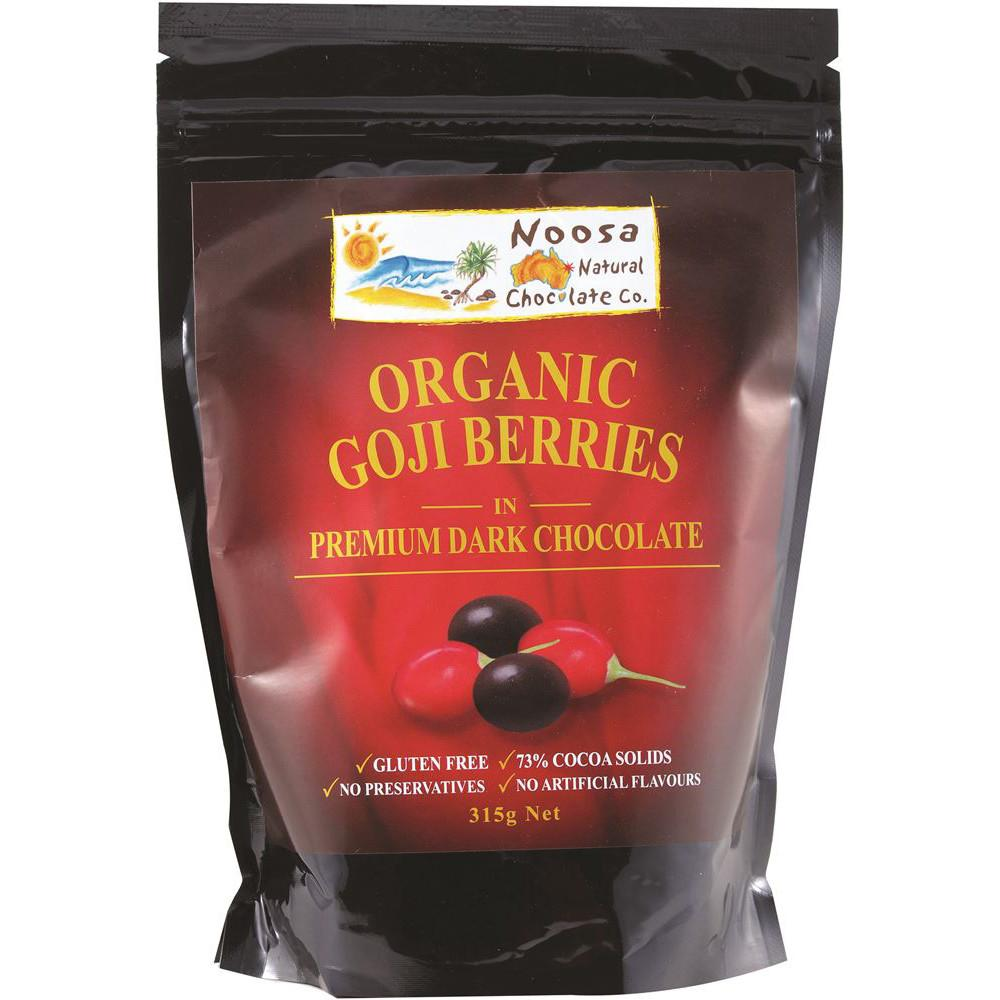 Noosa Natural Goji Berries Dark Chocolate 315g