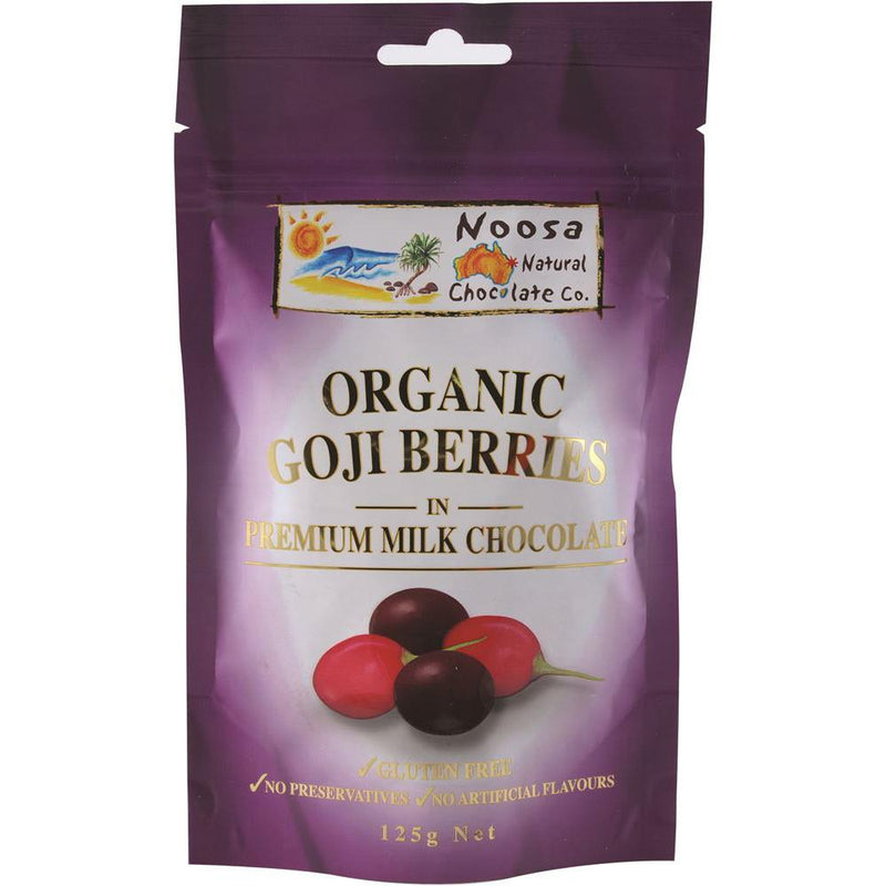 Noosa Natural Goji Berries Milk Chocolate 125g