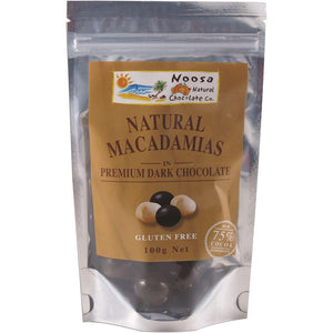 Noosa Natural Macadamias Dark Chocolate 100g
